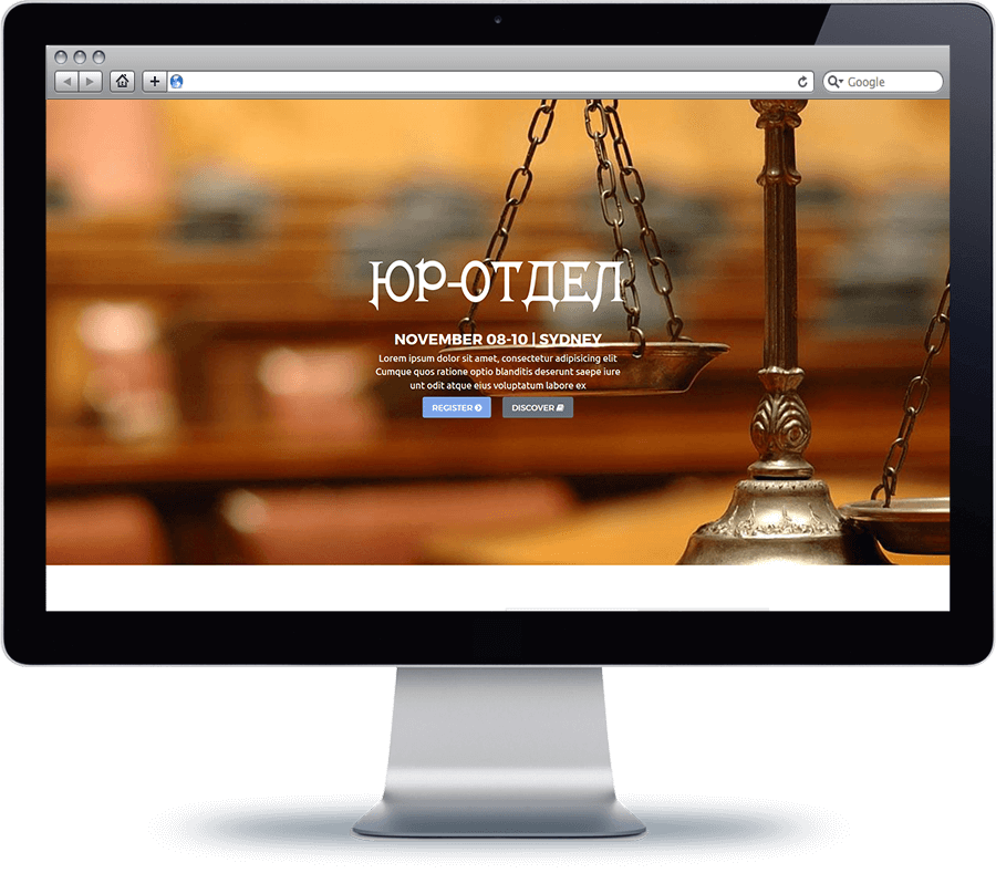 yurist 1 - Landing Page for a law firm