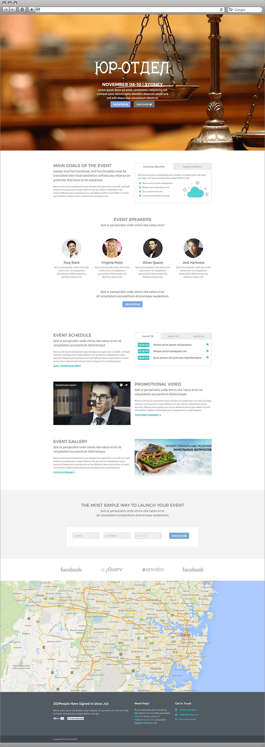 yurist 2 - Landing Page for a law firm